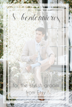 Boutonnieres for the Stylish Groom Keep Forever Everlasting   Hill City Bride Virginia Weddings Blog