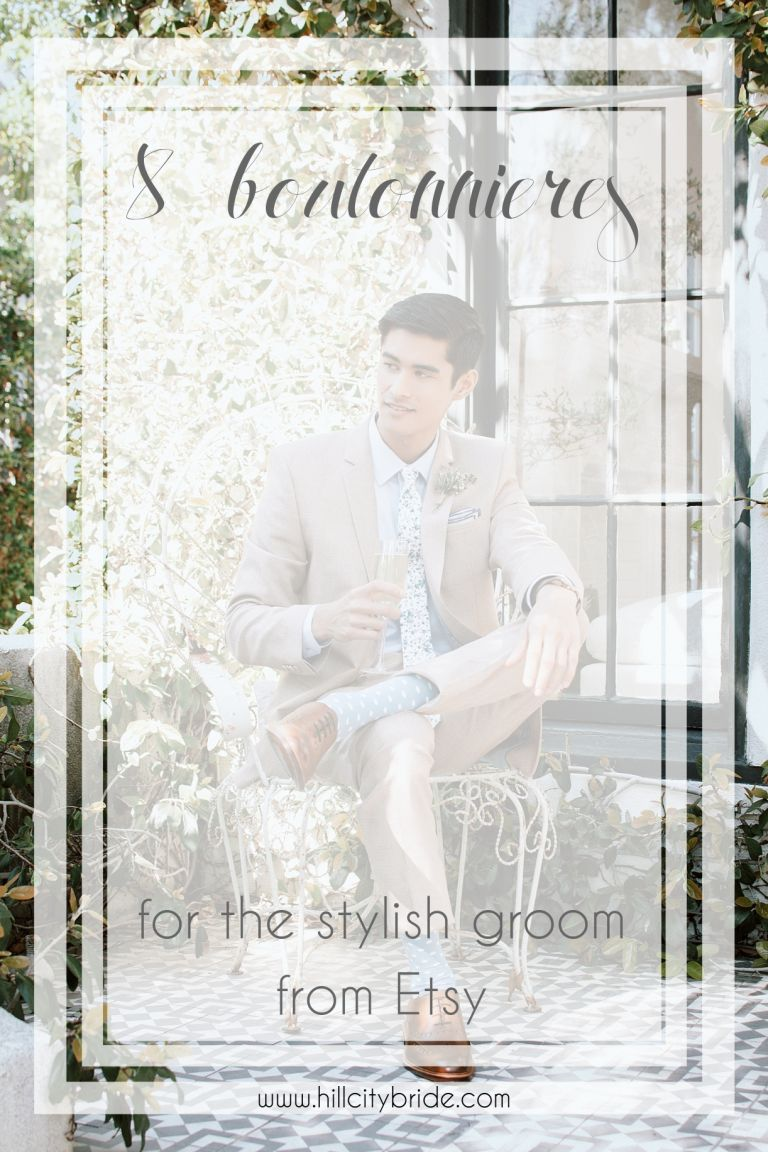 Boutonnieres for the Stylish Groom Keep Forever Everlasting | Hill City Bride Virginia Weddings Blog