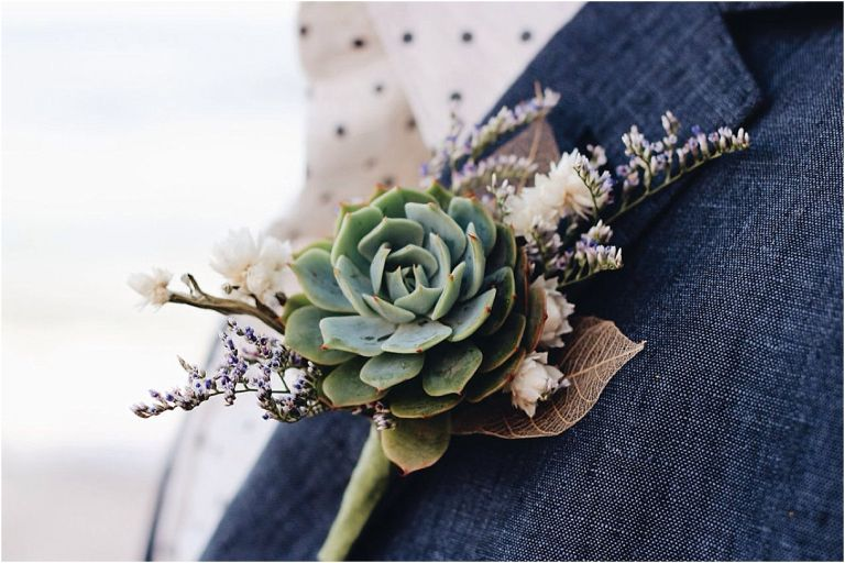 Boutonnieres for the Stylish Groom Keep Forever Everlasting | Hill City Bride Virginia Weddings Blog Succulent
