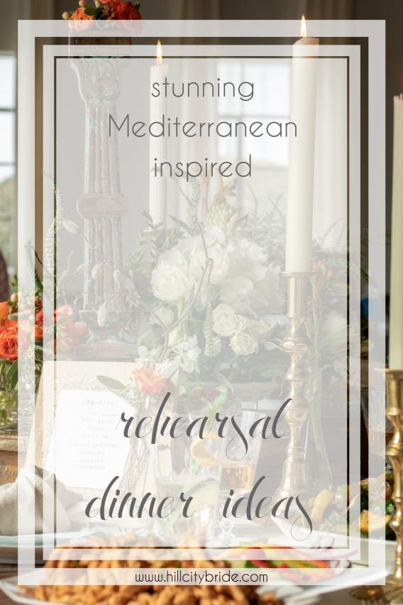Mediterranean Inspired Rehearsal Dinner Ideas Hill City