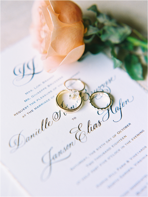 Gorgeous Pippin Hill Wedding in Charlottesville Virginia Bands Rings