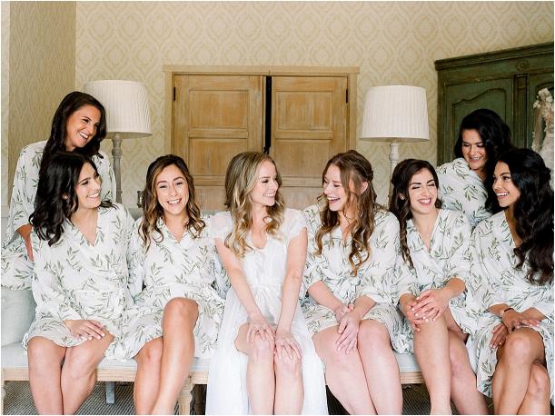 Gorgeous Pippin Hill Wedding in Charlottesville Virginia Bridesmaids Robe Attendants
