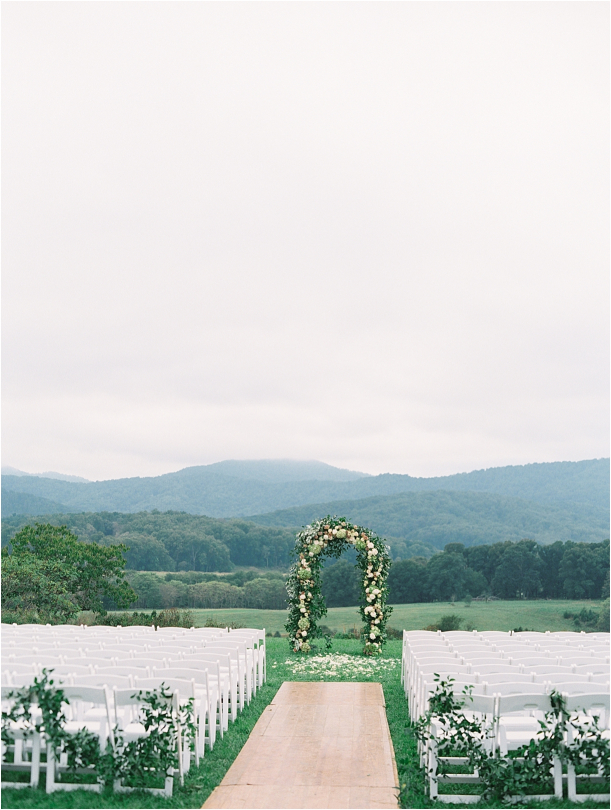 Gorgeous Pippin Hill Wedding in Charlottesville Virginia Ceremony Setup