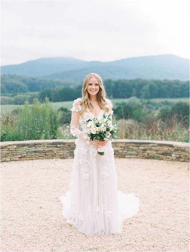 Gorgeous Pippin Hill Wedding in Charlottesville Virginia Gown Dress