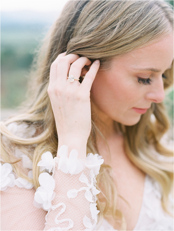 Gorgeous Pippin Hill Wedding in Charlottesville Virginia Engagement Ring Hair Down Makeup