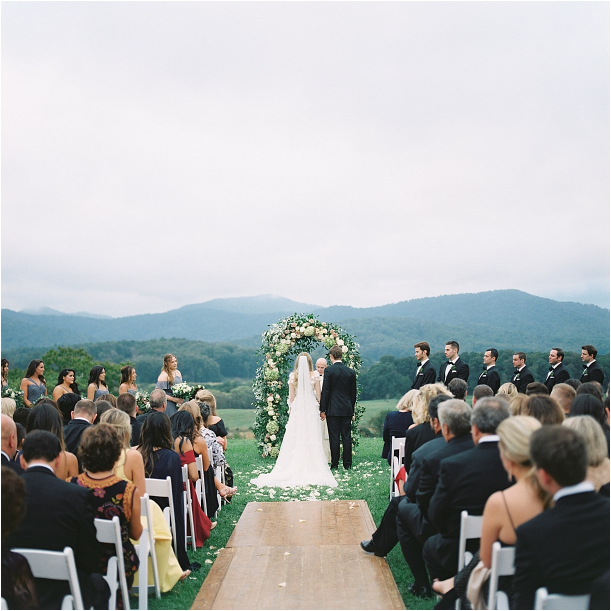 Gorgeous Pippin Hill Wedding in Charlottesville Virginia Ceremony