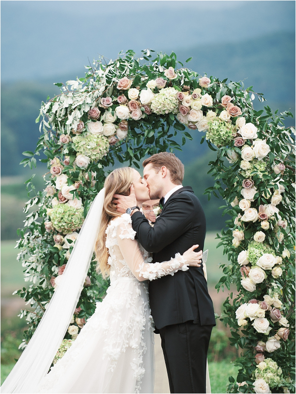 Gorgeous Pippin Hill Wedding in Charlottesville Virginia Kiss Ceremony
