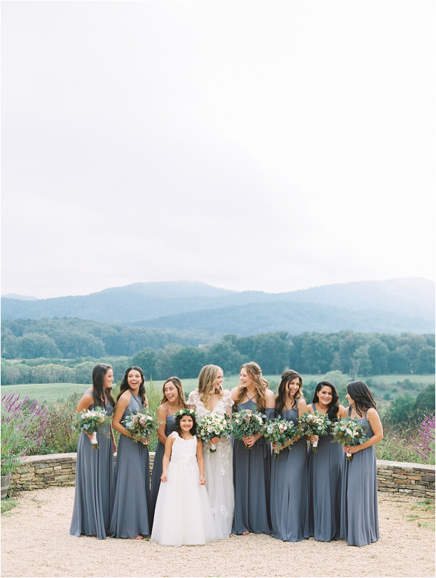 Gorgeous Pippin Hill Wedding in Charlottesville Virginia Bridesmaids