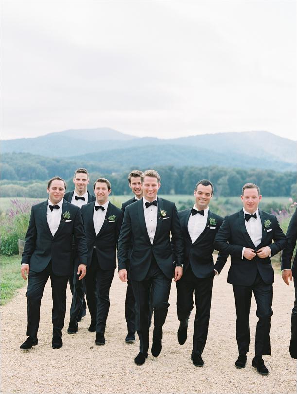 Gorgeous Pippin Hill Wedding in Charlottesville Virginia Groom Groomsmen
