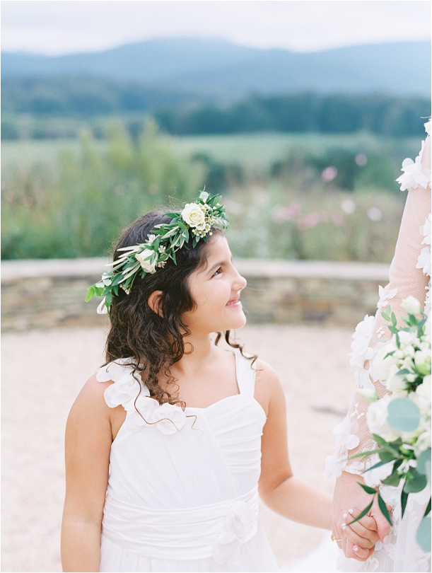 Gorgeous Pippin Hill Wedding in Charlottesville Virginia Flower Girl Crown
