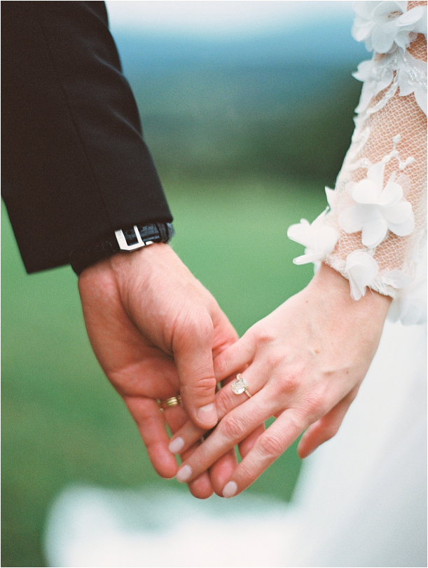 Gorgeous Pippin Hill Wedding in Charlottesville Virginia Ring Holding Hands