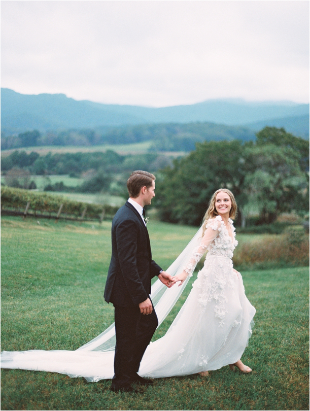 Gorgeous Pippin Hill Wedding in Charlottesville Virginia Groom Mountains