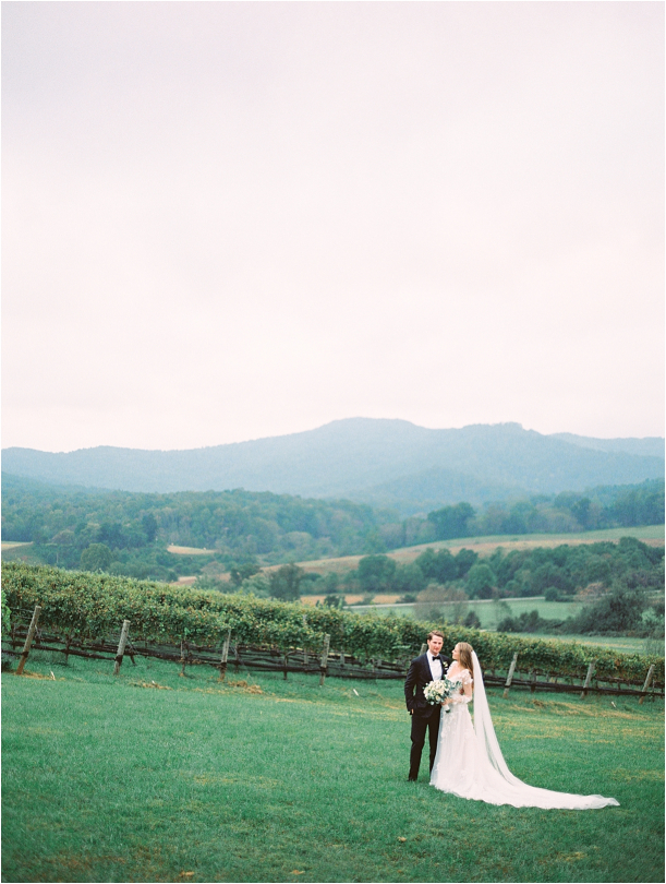 Gorgeous Pippin Hill Wedding in Charlottesville Virginia Groom Mountains Bouquet Flowers