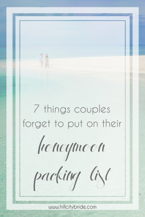 Things Couples Forget to Put on Their Honeymoon Packing List | Hill City Bride Virginia Weddings Blog Wedding