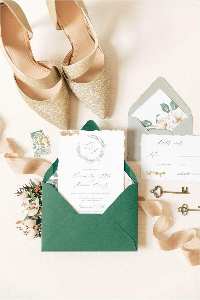 An Intimate Secret Garden Wedding in Virginia | Hill City Bride Virginia Wedding Inspiration Blog Stationery Invitations Flat Lay