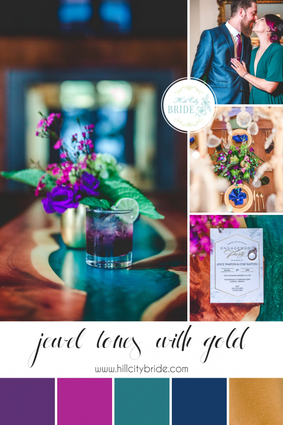 Engagement Party Ideas In Jewel Tones