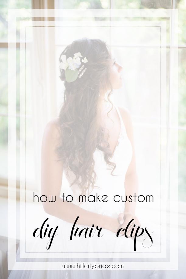 Tutorial on How to Make DIY Hair Clips | Hill City Bride Virginia Weddings Blog copy