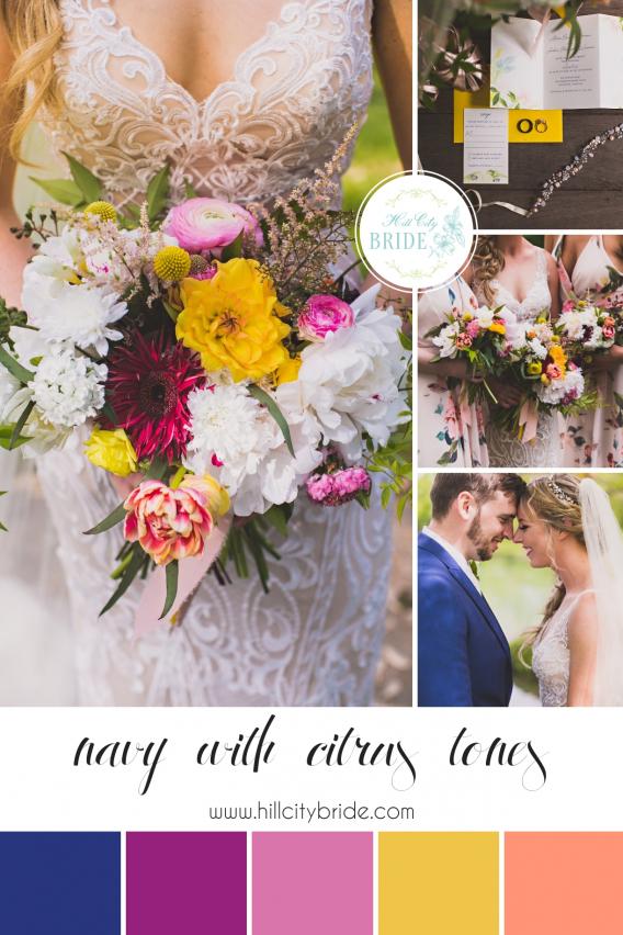 Navy Blue Wedding Color Palette Weddings | Hill City Bride