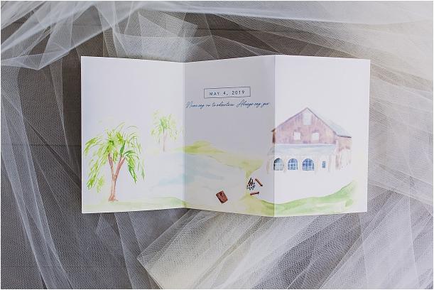 Navy Blue Wedding Color Schemes | Hill City Bride Virginia Blog Hand Drawn Invitation