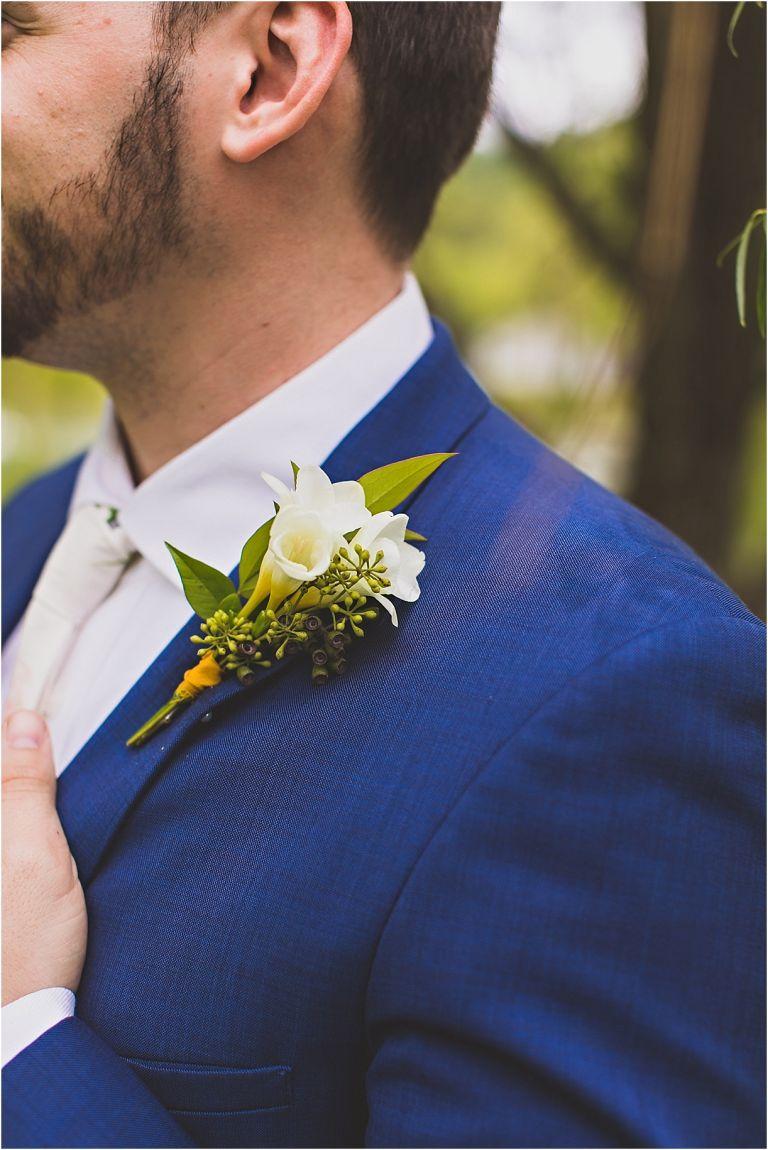 Navy Blue Wedding Color Schemes | Hill City Bride Virginia Blog Boutonniere
