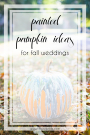 Painted Pumkin Ideas for Your Wedding Decor Fall Weddings Autumn | Pumpkin Decorating Ideas | Hill City Bride Virginia Weddings Blog