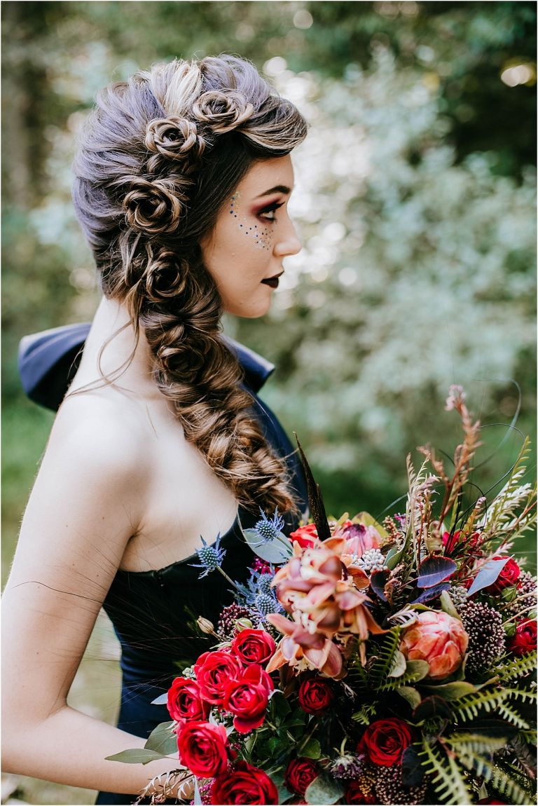 Wedding Hair Elegant Halloween Wedding Ideas | Hill City Bride Virginia Weddings Blog