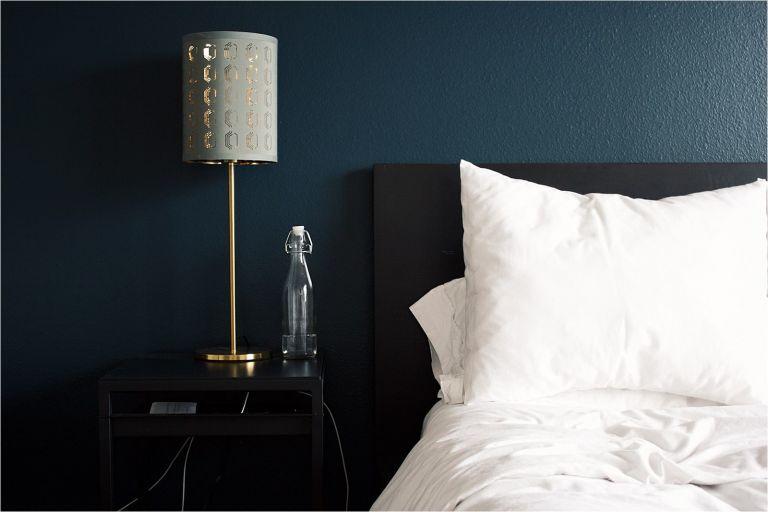 Dark Bedroom | Dark Green Bedroom | Best Color for Bedroom Walls | Relaxing Bedroom Paint Colors | Hill City Bride Blog