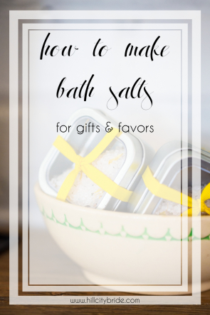 Epsom Salt Bath Recipes with Essential Oils | DIY Bath Salts | Hill City Bride Virginia Weddings