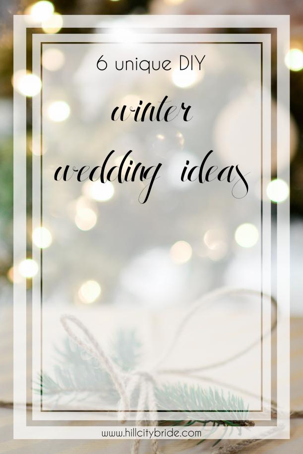 Unique DIY Winter Wedding Ideas   Winter Wonderland Wedding   Christmas Wedding on a Budget