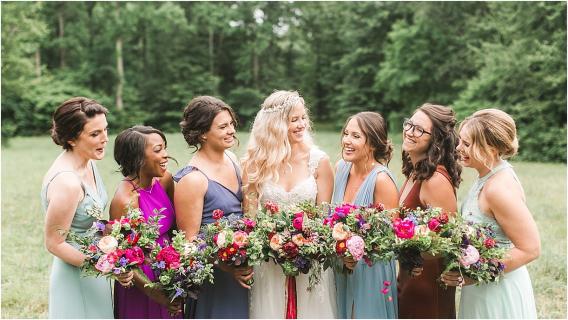 Boho Wedding Ideas | Hill City Bride Virginia Weddings Blog | Bohemian Wedding Bridesmaids