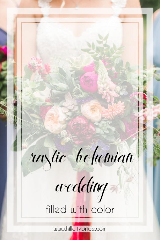 Colorful Rustic Bohemian Wedding Theme | Hill City Bride Virginia Weddings Blog