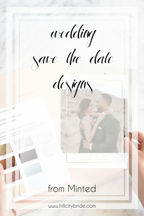 Wedding Save the Date Designs | Hill City Bride Virginia Weddings Blog Minted Wedding Invitations