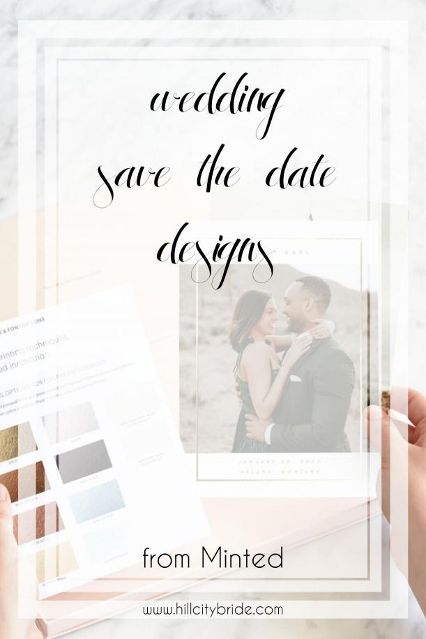 Wedding Save the Date Designs   Hill City Bride Virginia Weddings Blog Minted Wedding Invitations