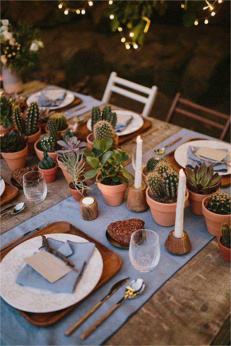 Winter Wedding Centerpiece Ideas | Hill City Bride Virginia Weddings Blog | Cacti Centerpiece | Succulent Centerpieces