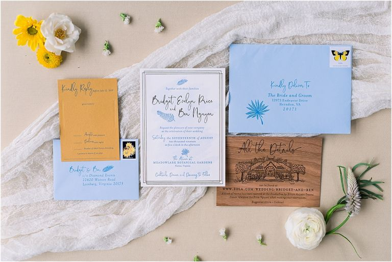 Light Blue and Yellow Wedding | Hill City Bride Wedding Blog Invitations