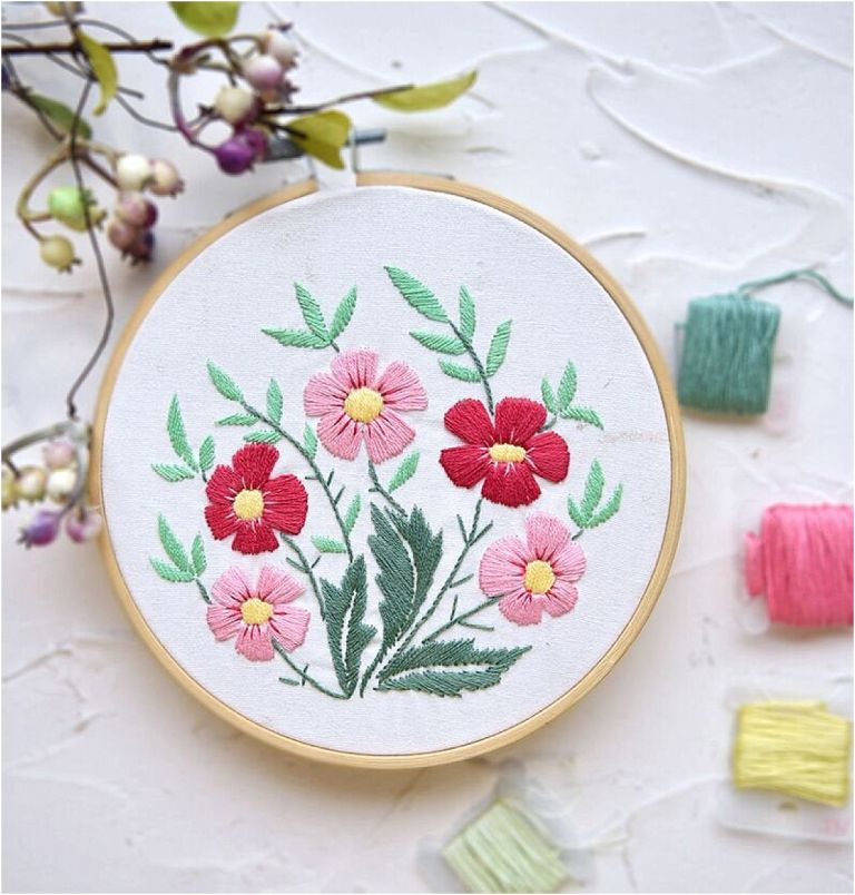 12 DIY Embroidery Designs for Your New Home | Hill City Bride Virginia Weddings Flowers