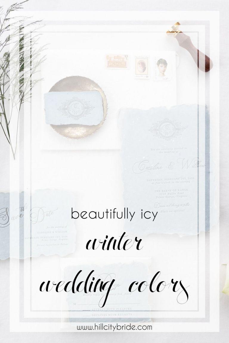 Icy Winter Wedding Colors Steel Blue Burgundy | Hill City Bride Virginia Wedding Blog