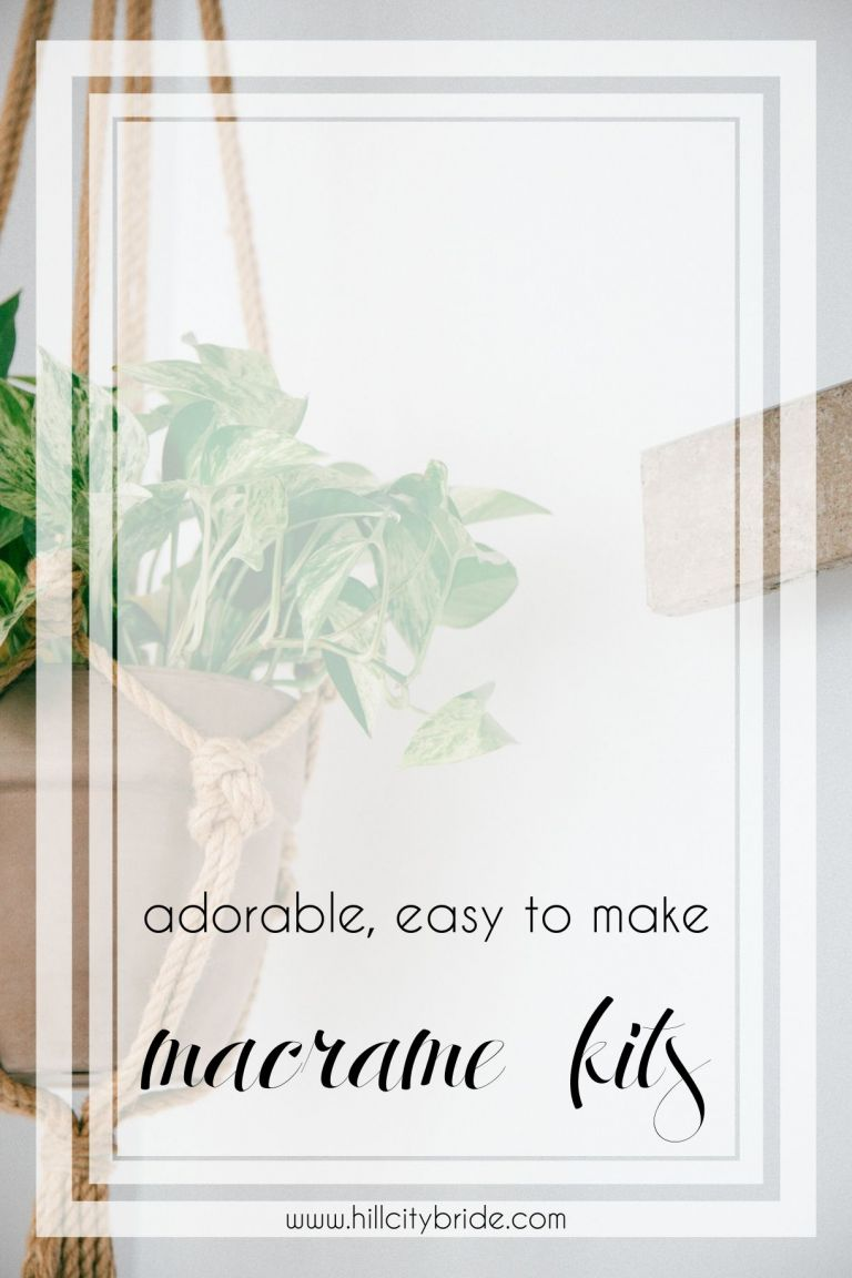 Macrame DIY Kits | Macrame DIY Plant Hanger | How to Macrame Plant Hangers | Hill City Bride