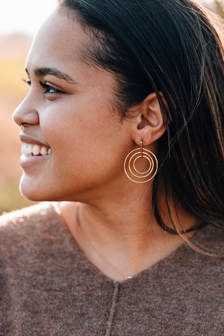 Handmade Jewelry | Unique Bridesmaid Gifts | Ten Thousand Villages | Bulls Eye Earrings