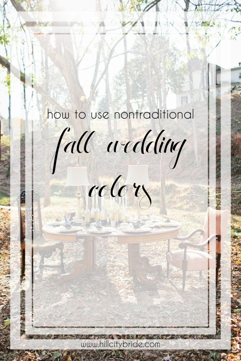 How to Use Nontraditional Fall Wedding Colors for an Autumn Wedding Ideas