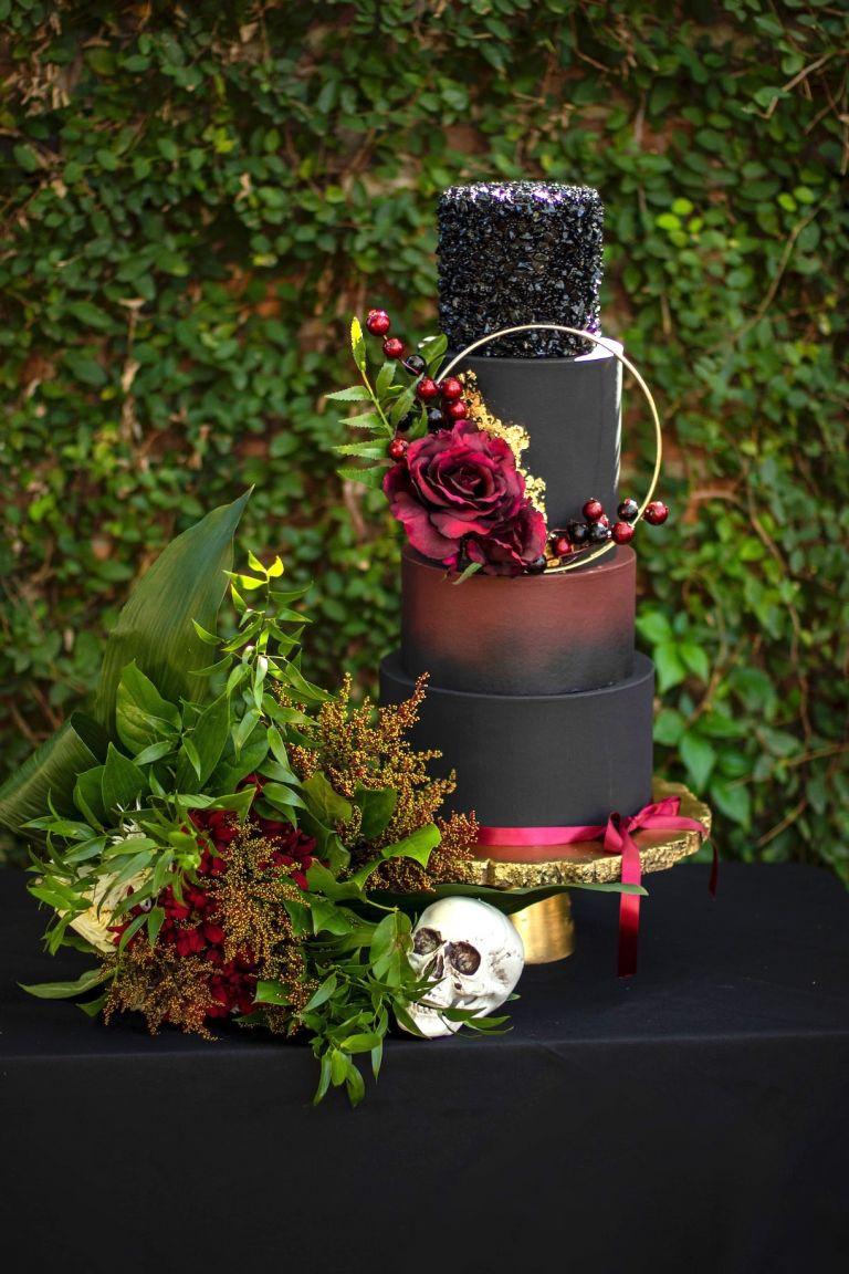 Gothic Wedding Cake | Goth Wedding Cake | Halloween Wedding Cake