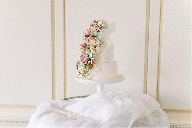 Light Pink Wedding Theme | Hill City Bride | Blush Pink and Navy Blue Wedding Pink Wedding Cake