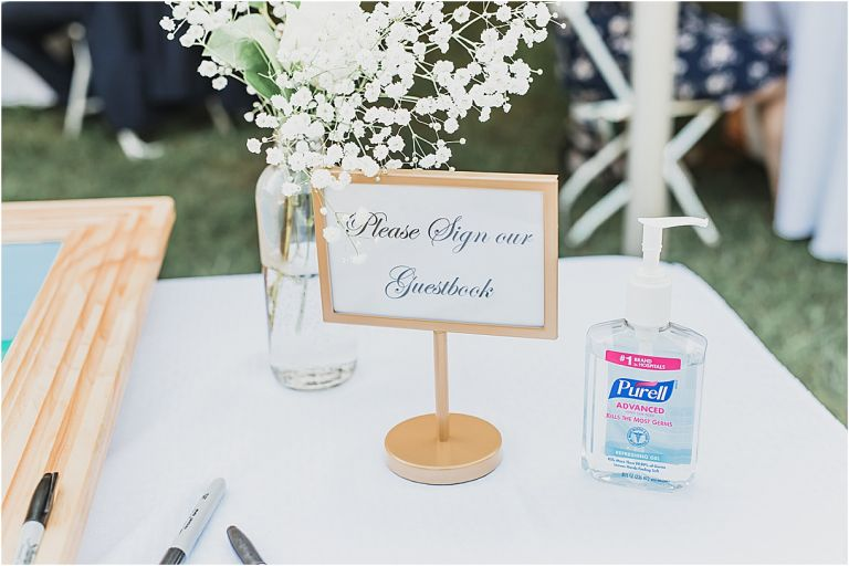 Hand Sanitizer COVID Wedding