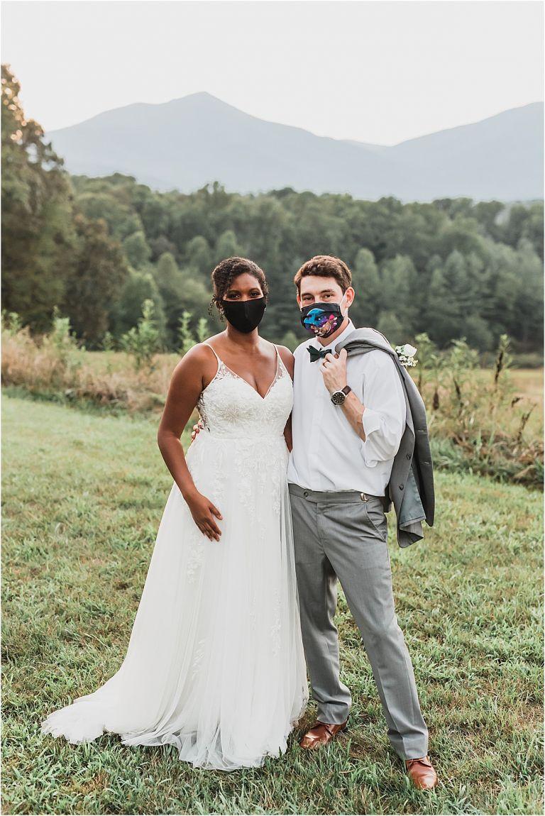 Bride Groom Face Masks Coronavirus Wedding