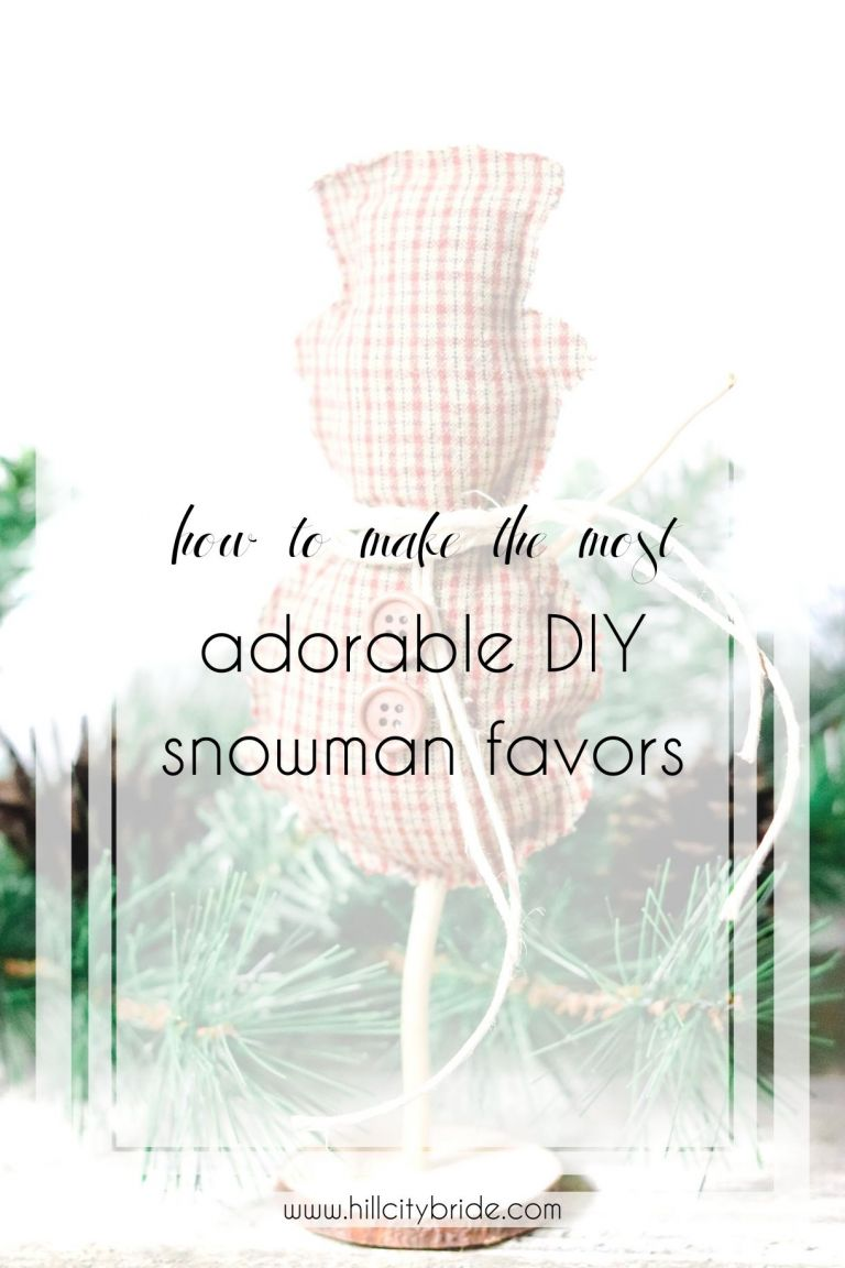 How to Make the Most Adorable DIY Snowmen Favors