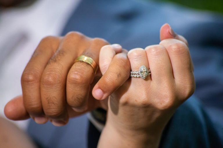 Micro Wedding at Airbnb Wedding Venues Virginia Richmond Rings