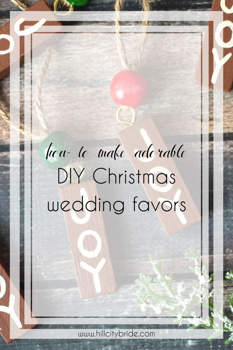 How to Make the Most Adorable DIY Christmas Wedding Favors Dollar Store Crafts