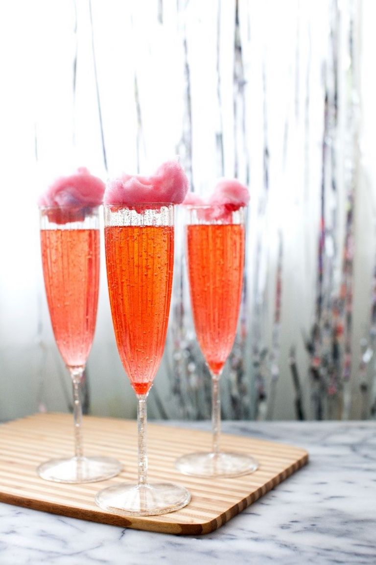 Cotton Candy Cocktail New Year's Eve Drinks