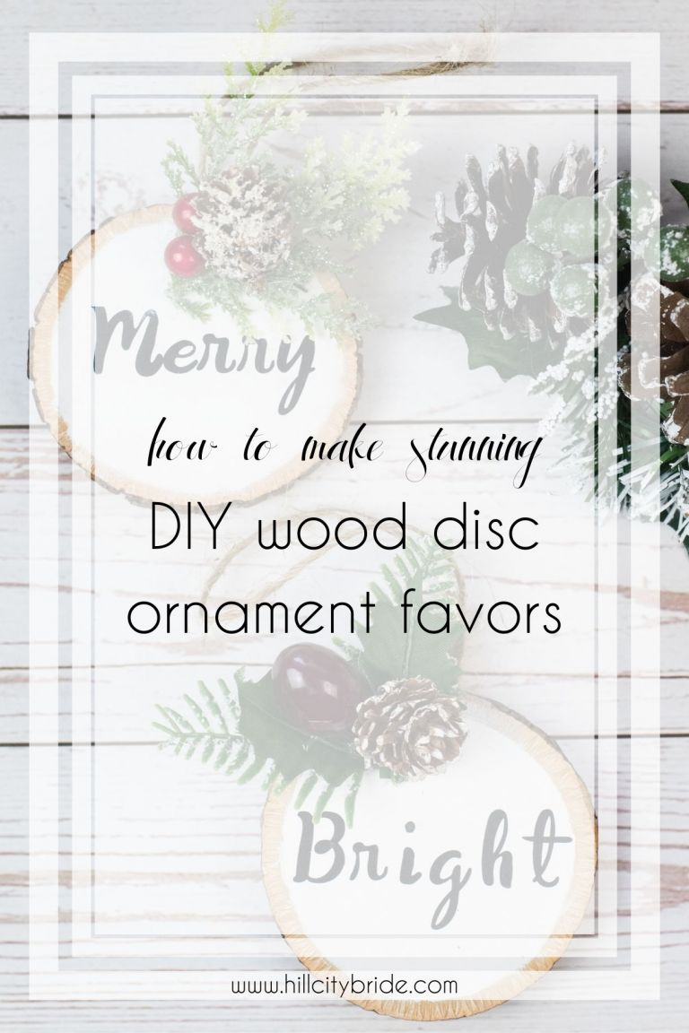 How to Make Absolutely Stunning DIY Wood Disc Ornaments as Favors
