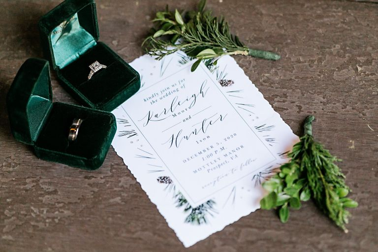 Festive Christmas Wedding Ideas Invitations